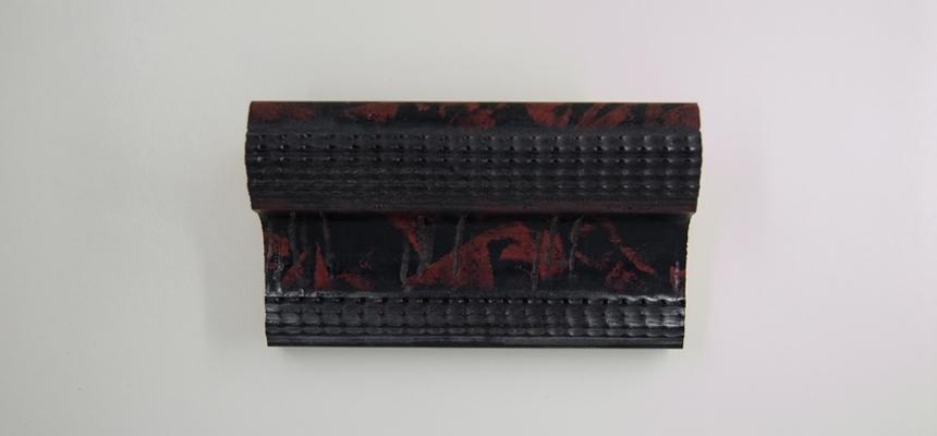 33C Schildpad zwart-rood structuur